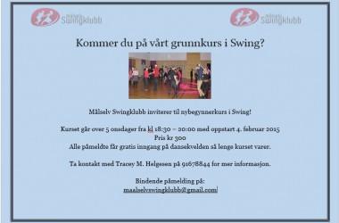 Grunnkurs swing hos Målselv Swingklubb
