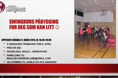 Swingkurs påbygging oppstart onsdag 11. mars 2015